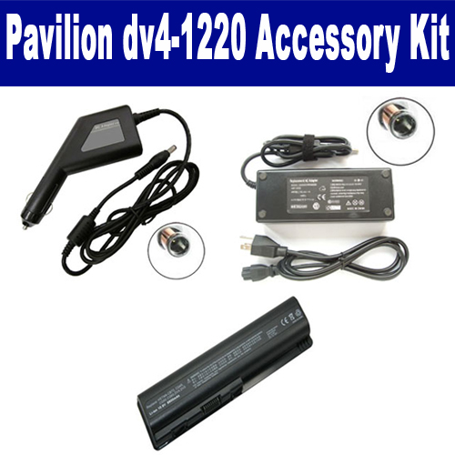 Synergy Digital HP Pavilion dv41220 Laptop Accessory Kit includes: SDB-3331 Battery, SDA-3517 AC Adapter, SDA-3567 Car Adapter By Synergy at Sears.com