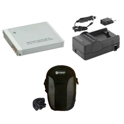 Canon Powershot D10 Digital Camera Accessory Kit includes: SDNB6L Battery, SDM-185 Charger, SDC-22 Case