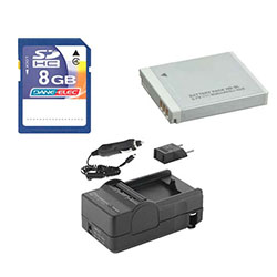 Canon Powershot D10 Digital Camera Accessory Kit includes: SDNB6L Battery, SDM-185 Charger, KSD48GB Memory Card