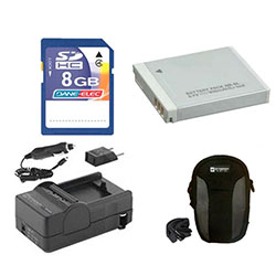 Canon Powershot D10 Digital Camera Accessory Kit includes: SDNB6L Battery, SDM-185 Charger, KSD48GB Memory Card, SDC-22 Case