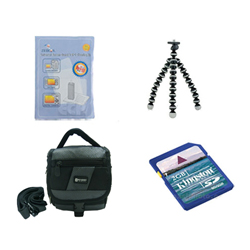JVC GZ-MS250 Camcorder Accessory Kit includes: KSD2GB Memory Card, SDC-27 Case, ZELCKSG Care & Cleaning, GP-22 Tripod