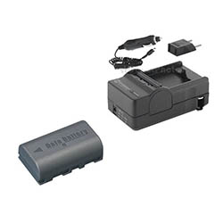 JVC Everio GZ-HD10 Camcorder Accessory Kit includes: SDM-180 Charger, SDBNVF808 Battery