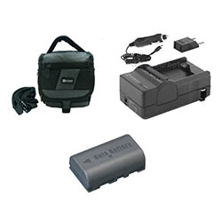 JVC Everio GZ-HD10 Camcorder Accessory Kit includes: SDM-180 Charger, SDC-27 Case, SDBNVF808 Battery
