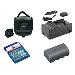 JVC Everio GZ-HD10 Camcorder Accessory Kit includes: SDM-180 Charger, KSD2GB Memory Card, SDC-27 Case, SDBNVF808 Battery