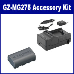 JVC Everio GZ-MG275 Camcorder Accessory Kit includes: SDM-180 Charger, SDBNVF808 Battery