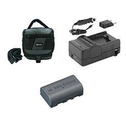 JVC Everio GZ-MG275 Camcorder Accessory Kit includes: SDM-180 Charger, SDC-27 Case, SDBNVF808 Battery