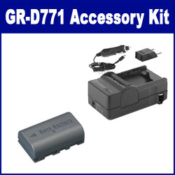 JVC GR-D771 Camcorder Accessory Kit includes: SDM-180 Charger, SDBNVF808 Battery
