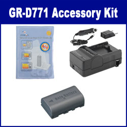 JVC GR-D771 Camcorder Accessory Kit includes: SDM-180 Charger, ZELCKSG Care & Cleaning, SDBNVF808 Battery