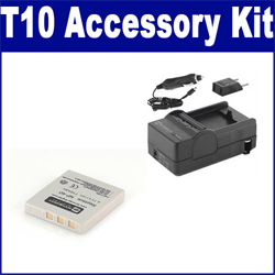 Pentax Optio T10 Digital Camera Accessory Kit includes: SDM-142 Charger, SDNP40 Battery