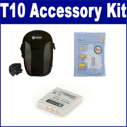 Pentax Optio T10 Digital Camera Accessory Kit includes: ZELCKSG Care & Cleaning, SDC-21 Case, SDNP40 Battery