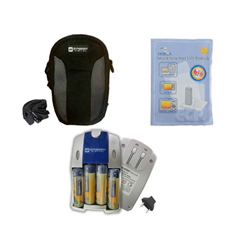 Pentax Optio 33LF Digital Camera Accessory Kit includes: ZELCKSG Care & Cleaning, SDC-21 Case, SB257 Charger