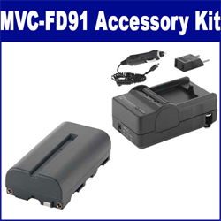Sony MVC-FD91 Digital Camera Accessory Kit includes: SDNPF570 Battery, SDM-105 Charger