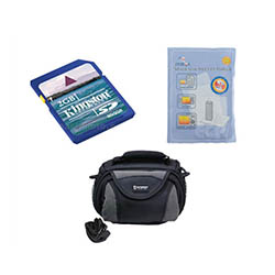 Canon VIXIA HF R21 Camcorder Accessory Kit includes: ZELCKSG Care & Cleaning, KSD2GB Memory Card, SDC-26 Case