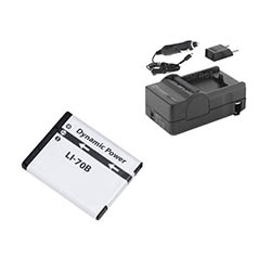 Olympus VG-110 Digital Camera Accessory Kit includes: SDLi70B Battery, SDM-1522 Charger