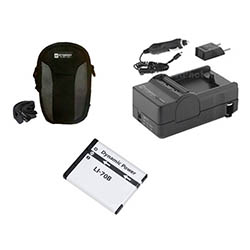 Olympus VG-110 Digital Camera Accessory Kit includes: SDLi70B Battery, SDM-1522 Charger, SDC-21 Case
