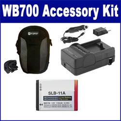Samsung WB700 Digital Camera Accessory Kit includes: ACD308 Battery, SDM-1501 Charger, SDC-22 Case