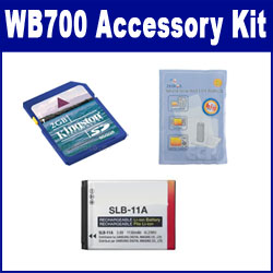 Samsung WB700 Digital Camera Accessory Kit includes: ACD308 Battery, KSD2GB Memory Card, ZELCKSG Care & Cleaning