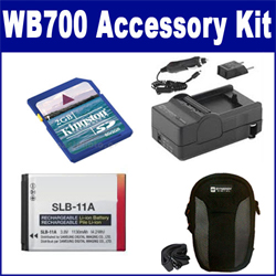 Samsung WB700 Digital Camera Accessory Kit includes: ACD308 Battery, SDM-1501 Charger, KSD2GB Memory Card, SDC-22 Case