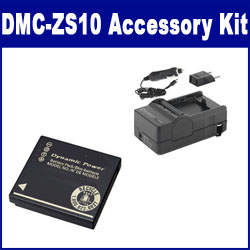 Panasonic Lumix DMC-ZS10 Digital Camera Accessory Kit includes: SDDMWBCG10 Battery, SDM-1508 Charger