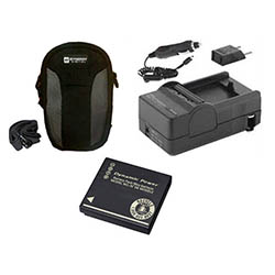 Panasonic Lumix DMC-ZS10 Digital Camera Accessory Kit includes: SDDMWBCG10 Battery, SDM-1508 Charger, SDC-22 Case