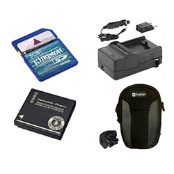 Panasonic Lumix DMC-ZS10 Digital Camera Accessory Kit includes: SDDMWBCG10 Battery, SDM-1508 Charger, KSD2GB Memory Card, SDC-22 Case
