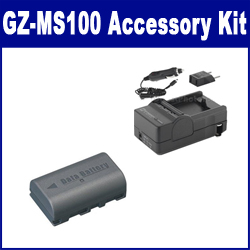 JVC GZ-MS100 Camcorder Accessory Kit includes: SDM-180 Charger, SDBNVF808 Battery