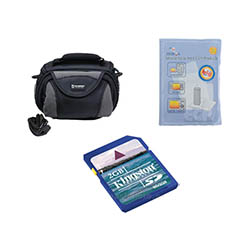 JVC GZ-MG750 Camcorder Accessory Kit includes: SDC-26 Case, KSD2GB Memory Card, ZELCKSG Care & Cleaning