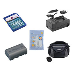 JVC Everio GZ-MG275 Camcorder Accessory Kit includes: SDM-180 Charger, KSD2GB Memory Card, ZELCKSG Care & Cleaning, SDBNVF808 Battery, SDC-26 Case