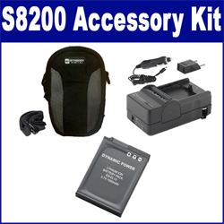 Nikon COOLPIX S8200 Digital Camera Accessory Kit includes: SDENEL12 Battery, SDM-197 Charger, SDC-22 Case