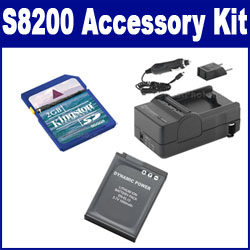 Nikon COOLPIX S8200 Digital Camera Accessory Kit includes: SDENEL12 Battery, SDM-197 Charger, KSD2GB Memory Card