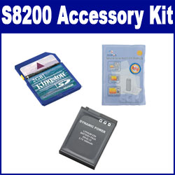 Nikon COOLPIX S8200 Digital Camera Accessory Kit includes: SDENEL12 Battery, KSD2GB Memory Card, ZELCKSG Care & Cleaning
