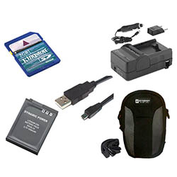 Nikon COOLPIX S8200 Digital Camera Accessory Kit includes: SDENEL12 Battery, SDM-197 Charger, KSD2GB Memory Card, SDC-22 Case, USB8PIN USB Cable
