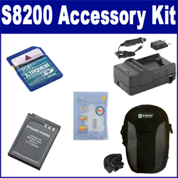 Nikon COOLPIX S8200 Digital Camera Accessory Kit includes: SDENEL12 Battery, SDM-197 Charger, KSD2GB Memory Card, SDC-22 Case, ZELCKSG Care & Cleaning