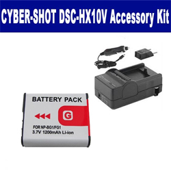 Sony Cyber-shot DSC-HX10V Digital Camera Accessory Kit includes: SDNPBG1 Battery, SDM-175 Charger