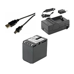 JVC GR-HD1 Camcorder Accessory Kit includes: SDM-111 Charger, SDBNV428 Battery, USB5PIN USB Cable