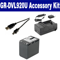JVC GR-DVL920U Camcorder Accessory Kit includes: SDM-111 Charger, SDBNV428 Battery, USB5PIN USB Cable