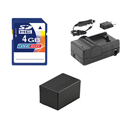 Canon VIXIA HF R300 Camcorder Accessory Kit includes: PTBP727 Battery, KSD4GB Memory Card