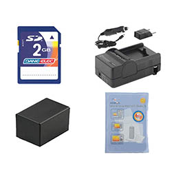 Canon VIXIA HF R300 Camcorder Accessory Kit includes: ZELCKSG Care & Cleaning, KSD2GB Memory Card, SDM-1556 Charger, ACD786 Battery