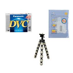 JVC GR-D275US Camcorder Accessory Kit includes: ZELCKSG Care & Cleaning, GP-22 Tripod, DVTAPE Tape/ Media