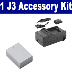Nikon 1 J3 Digital Camera Accessory Kit includes: SDENEL20 Battery, SDM-1549 Charger