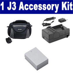 Nikon 1 J3 Digital Camera Accessory Kit includes: SDENEL20 Battery, SDM-1549 Charger, SDC-26 Case