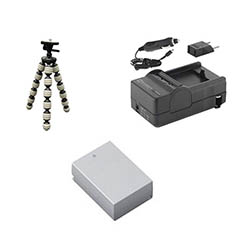 Nikon 1 J3 Digital Camera Accessory Kit includes: SDENEL20 Battery, SDM-1549 Charger, GP-22 Tripod