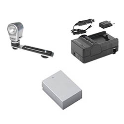 Nikon 1 J3 Digital Camera Accessory Kit includes: SDENEL20 Battery, SDM-1549 Charger, ZE-VLK18 On-Camera Lighting