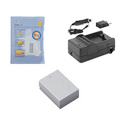 Nikon 1 J3 Digital Camera Accessory Kit includes: SDENEL20 Battery, SDM-1549 Charger, ZELCKSG Care & Cleaning