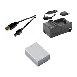 Nikon 1 J3 Digital Camera Accessory Kit includes: SDENEL20 Battery, SDM-1549 Charger, USB5PIN USB Cable