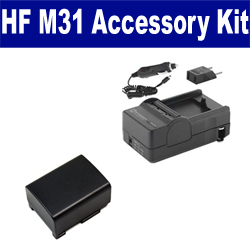 Canon HF M31 Camcorder Accessory Kit includes: SDBP809 Battery, SDM-1503 Charger