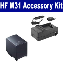 Canon HF M31 Camcorder Accessory Kit includes: SDBP819 Battery, SDM-1503 Charger