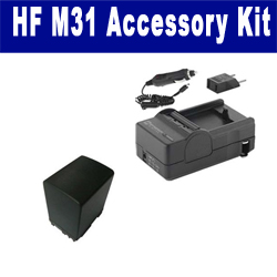 Canon HF M31 Camcorder Accessory Kit includes: SDBP827 Battery, SDM-1503 Charger