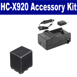 Panasonic HC-X920 Camcorder Accessory Kit includes: SDVWVBN390 Battery, SDM-1551 Charger