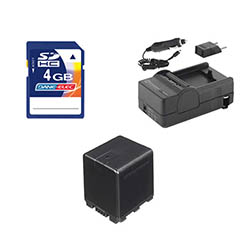 Panasonic HC-X920 Camcorder Accessory Kit includes: SDVWVBN390 Battery, SDM-1551 Charger, KSD4GB Memory Card